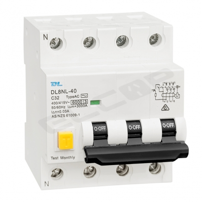 3 Phase RCBO C Curve