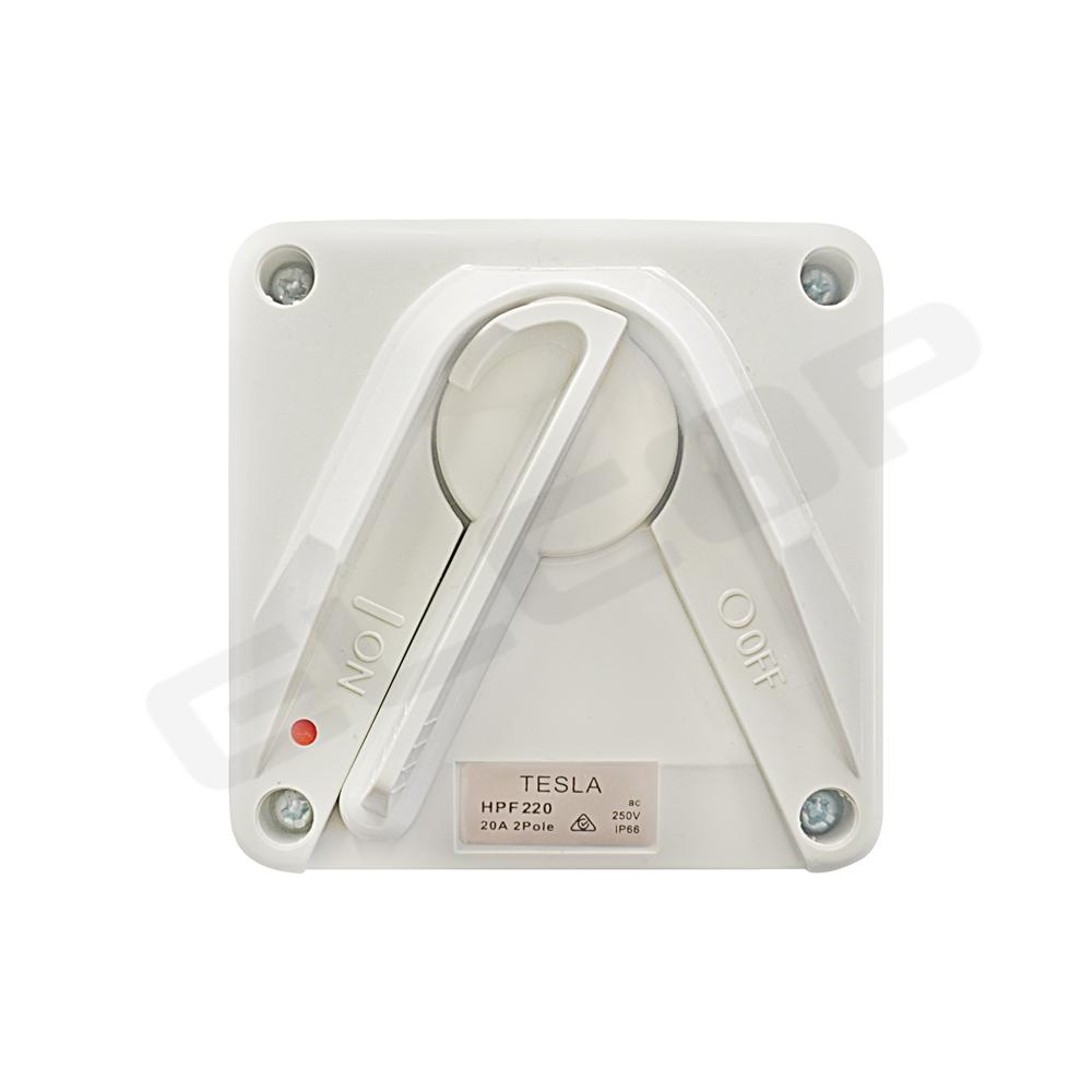 2P 20A Mini Weatherproof Isolator 250V IP66