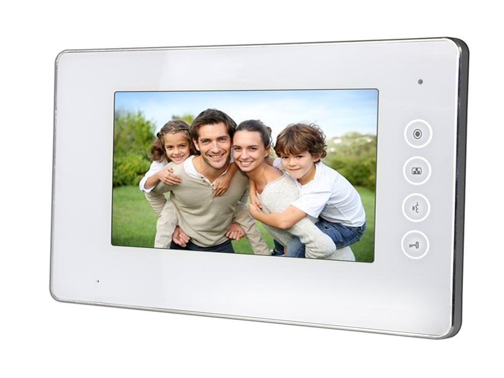 7″ White LED Surface Mount Intercom Monitor   Platinum