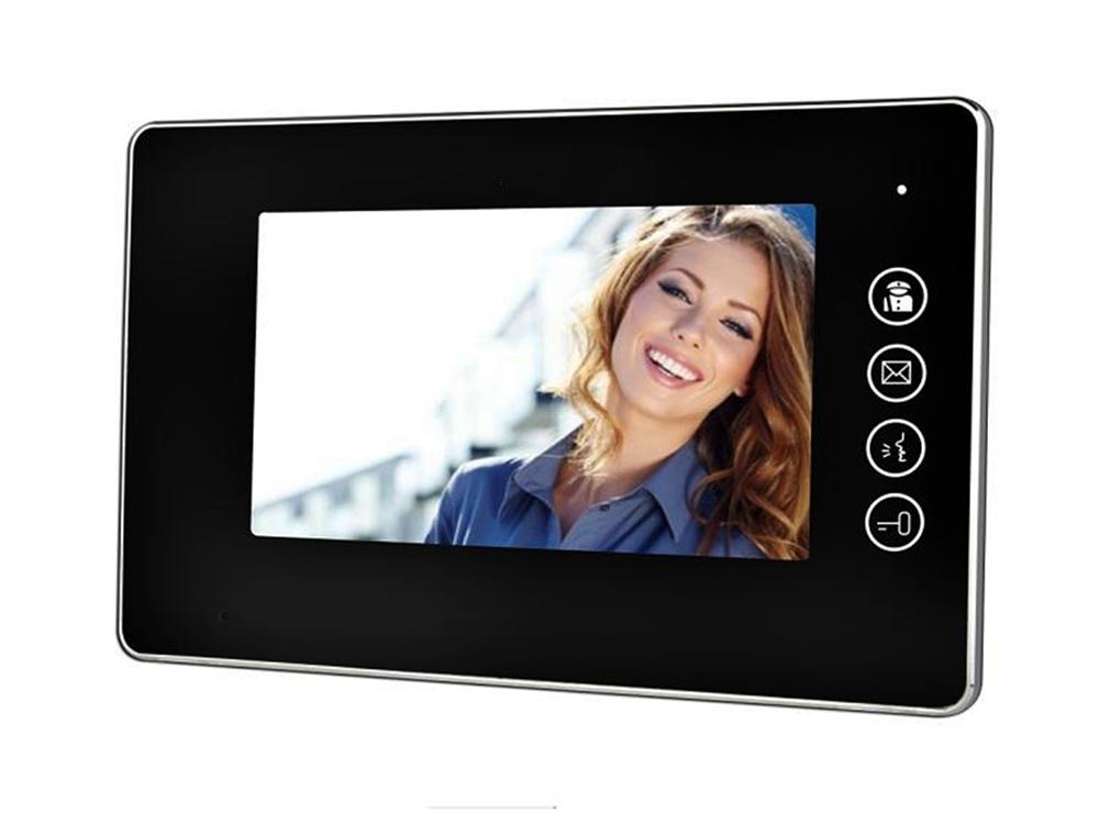 7″ LED Black Surface Mount Intercom Monitor   Platinum