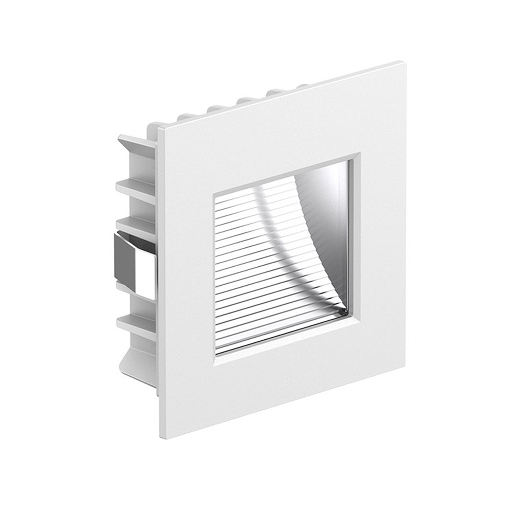 3W LED Square Recessed White Step/Stair Case Light 4000K | 60x60mm