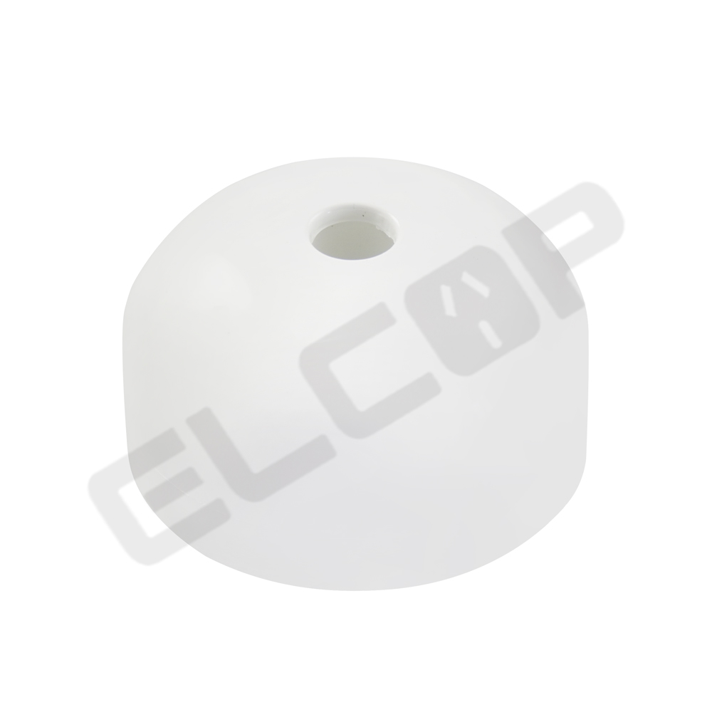 Ceiling Rose Round White 15A 4 Terminal Surface Ring