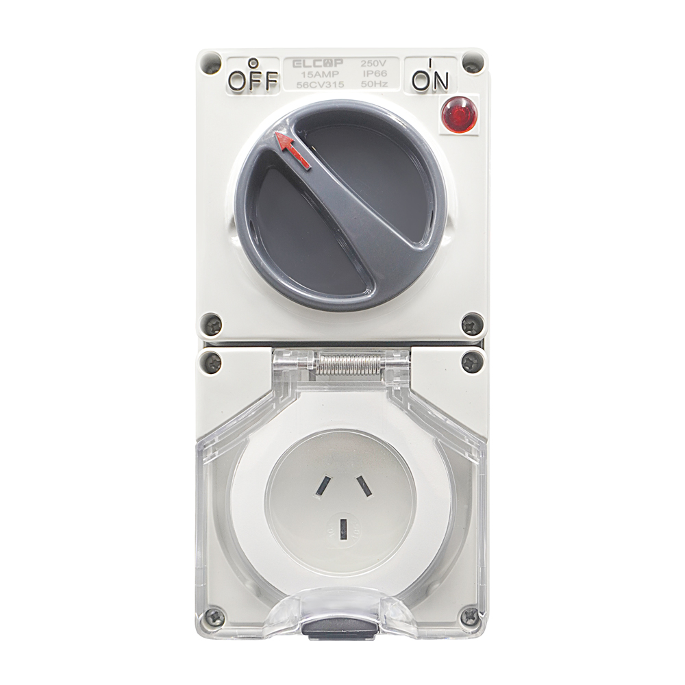 3 PIN 15A Switch & Socket 250V IP66