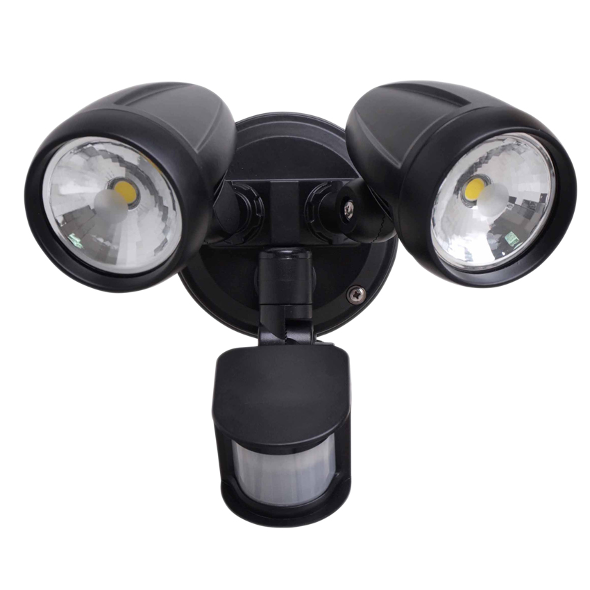 26W Double LED Spotlight with Rotable Double-head and 180 Degree Sensor IP65