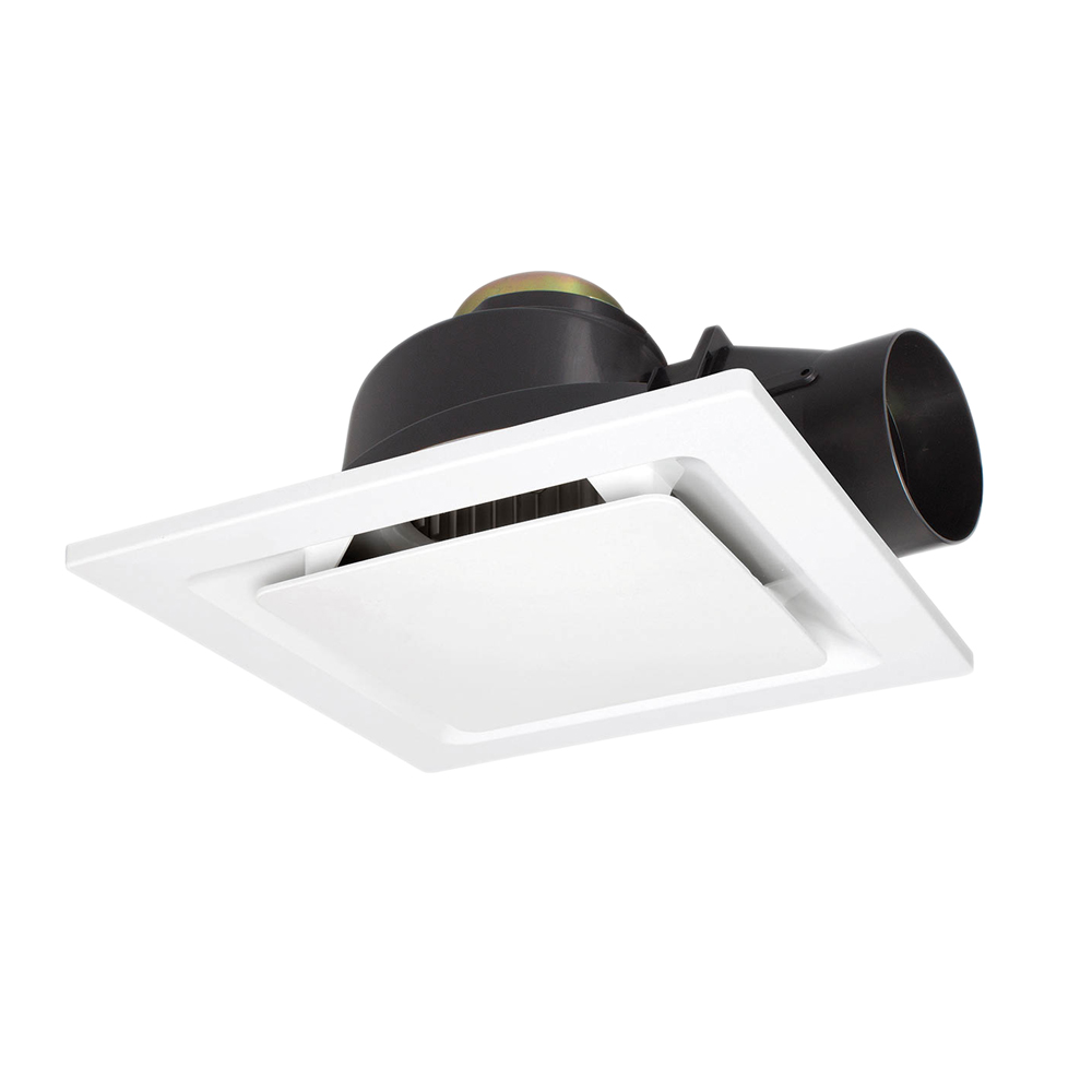 Square Exhaust Fan with 290mm Round Cut Out | White | Elcop