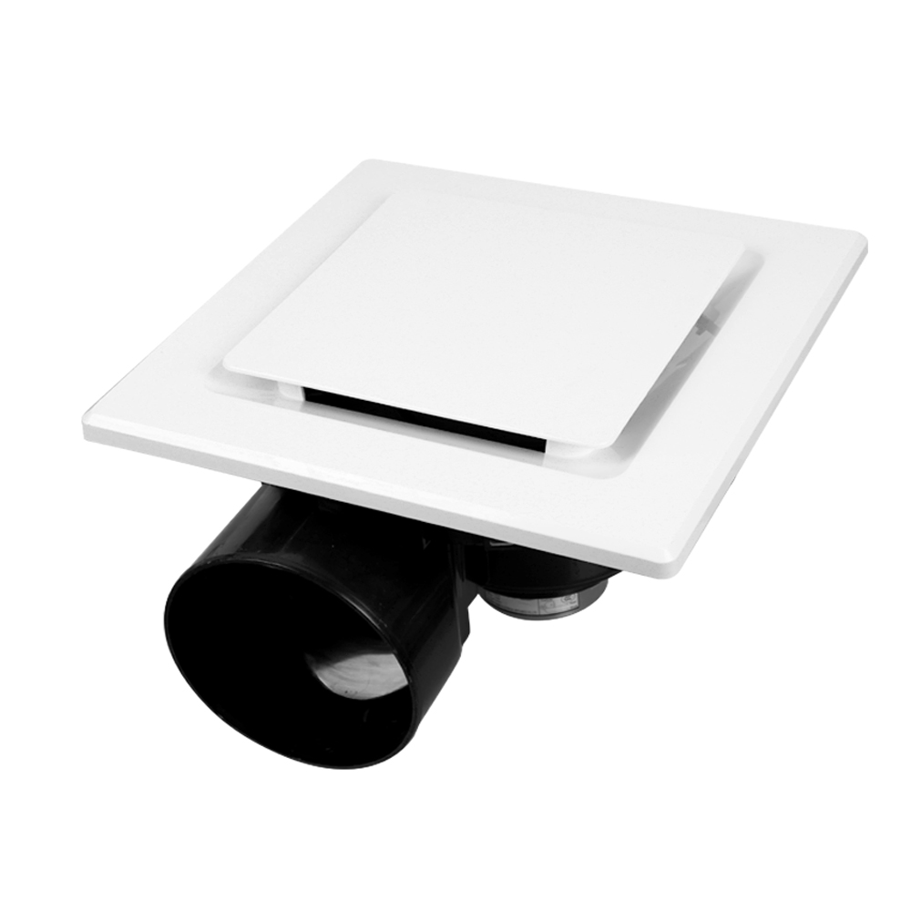 Square Exhaust Fan with 240mm Round Cut Out  | White | Elcop