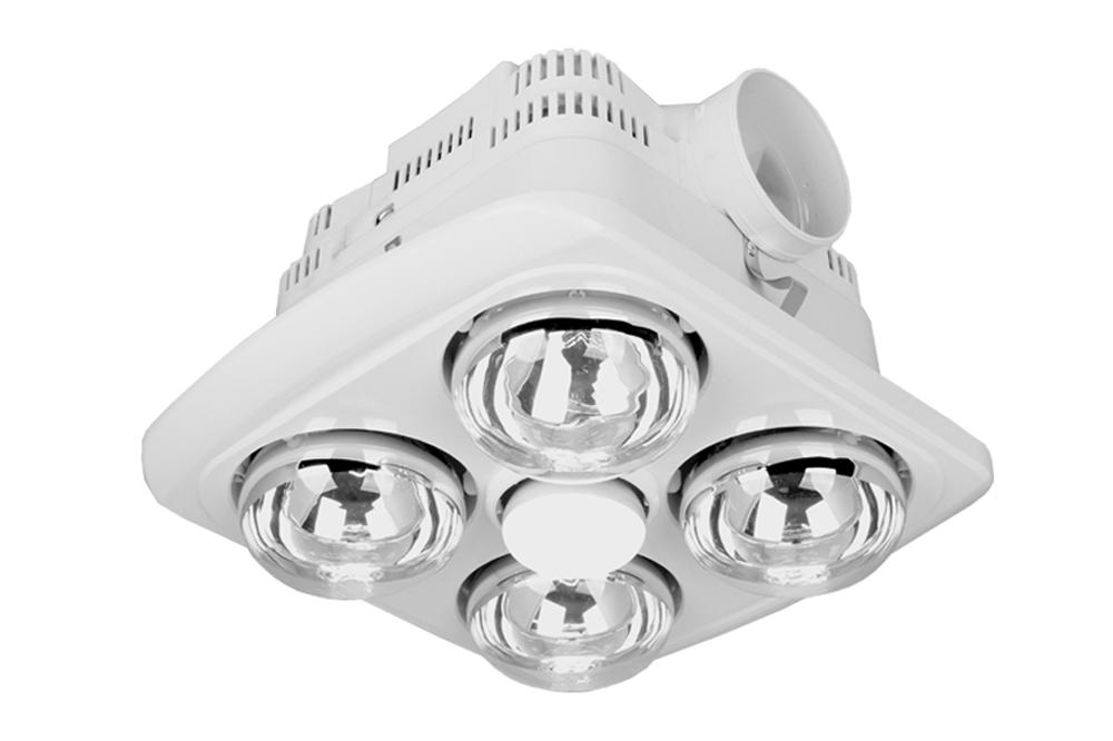 3 in 1 Ducted Bathroom Heater and Exhaust Fan Light   4 x 275W Instant Heat   Elcop