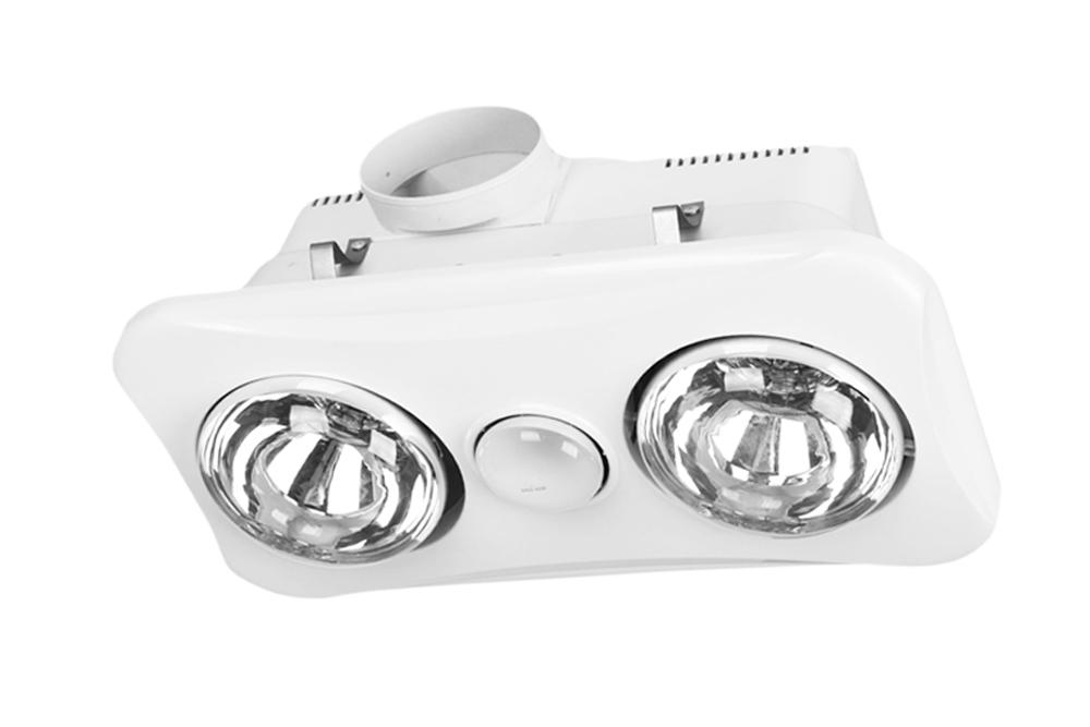 3 in 1 Ducted Bathroom Heater and Exhaust Fan Light   2 x 275W Instant Heat   Elcop