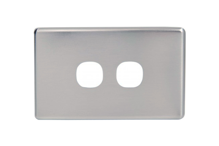 Slim Line Double Gang Silver Cover