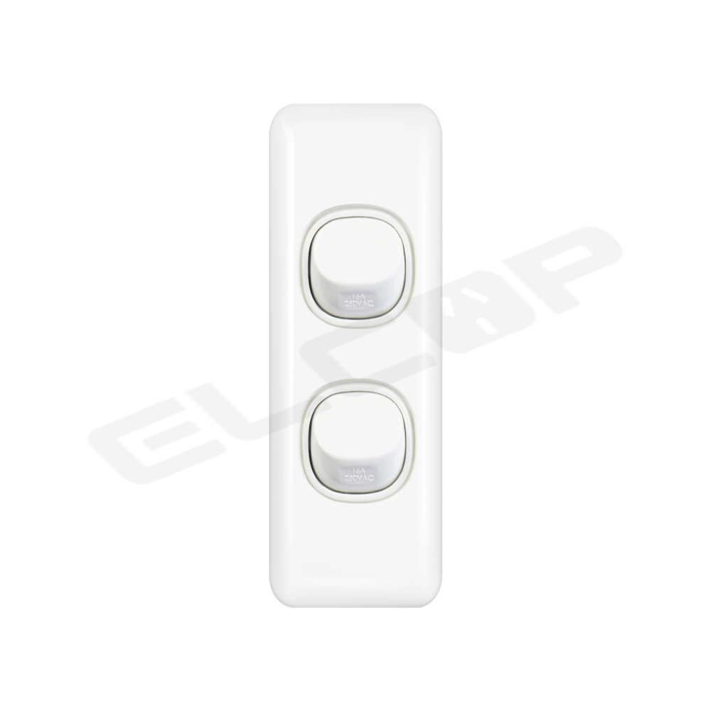 Double Gang Architrave Switch   C2 Series
