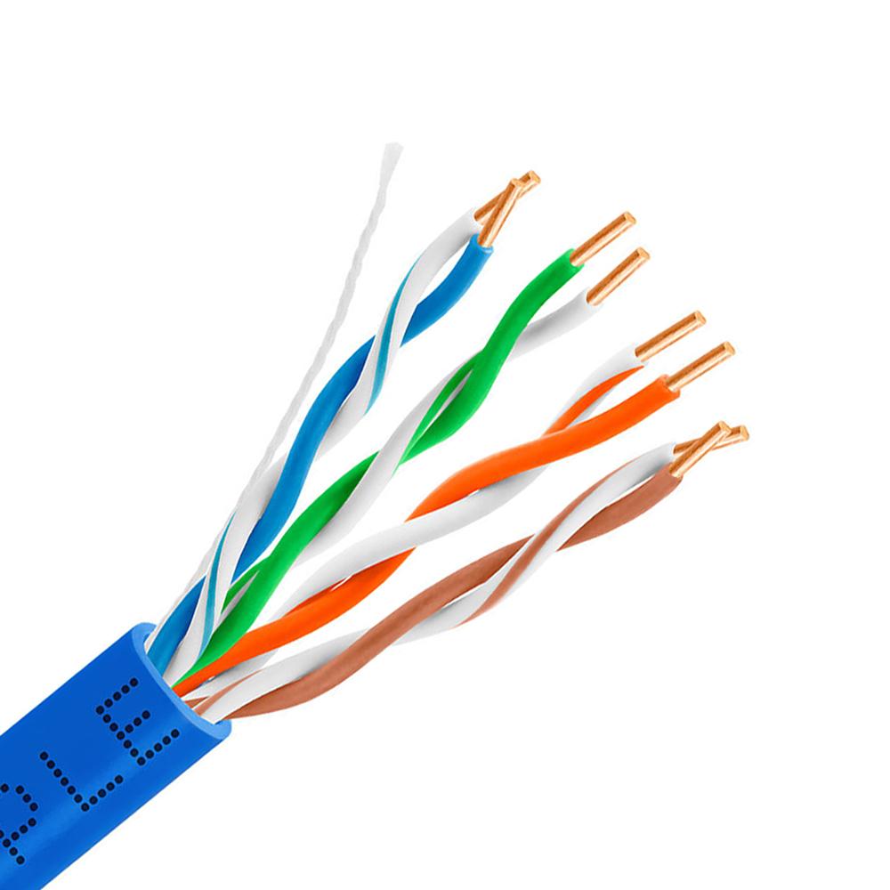 CAT6 PVC Solid Copper UTP 305M | Quick Pull Box | Blue