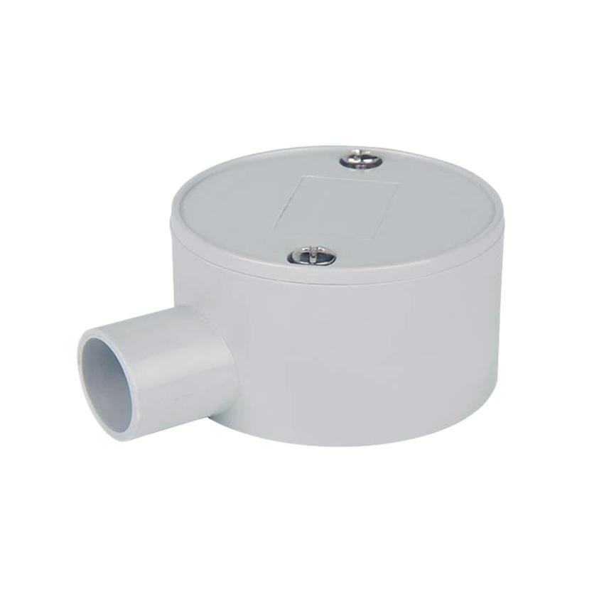 Circular Shallow J-Box 1 Way Entry 20mm