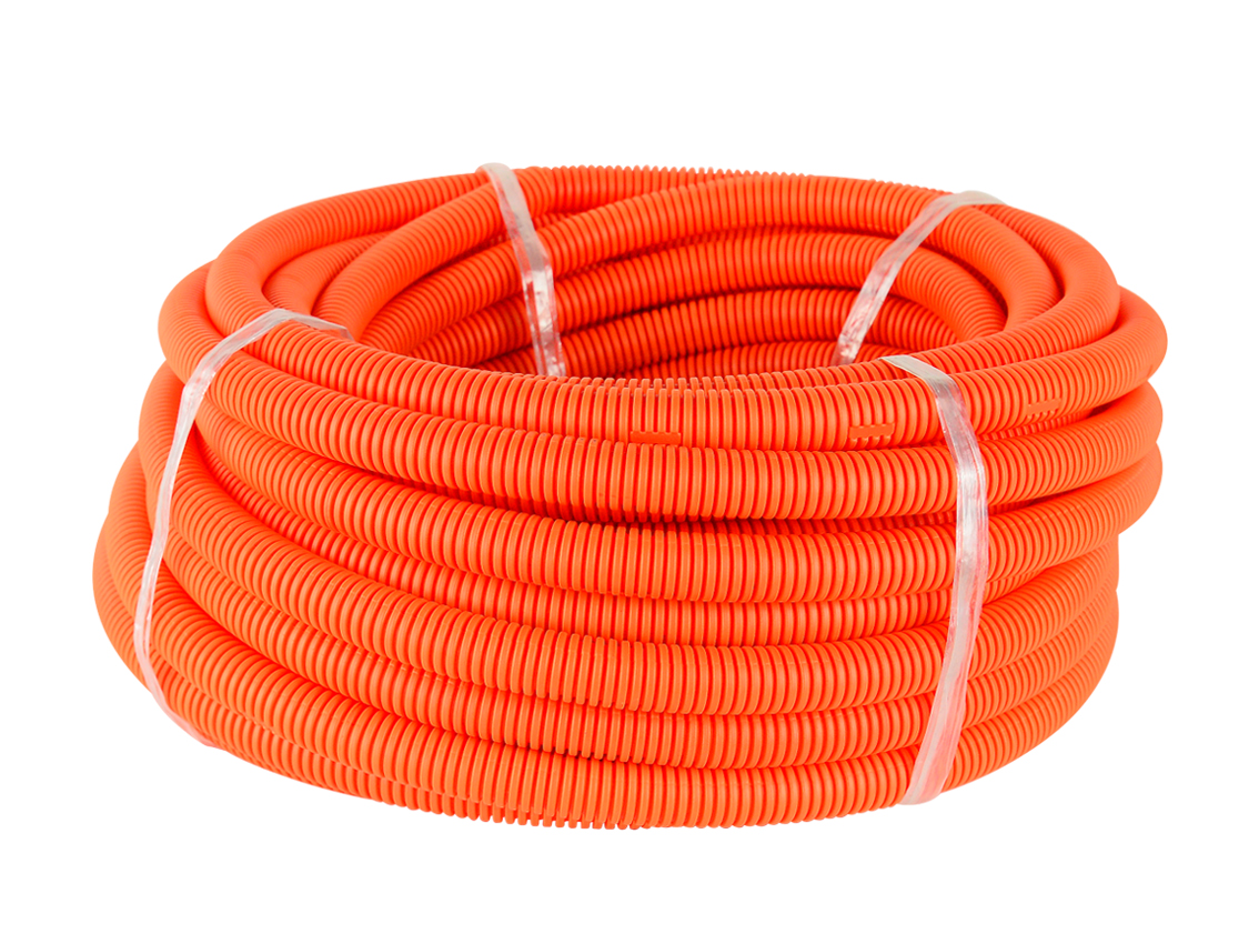 20mm HD Orange Corrugated Conduit (25m Roll)