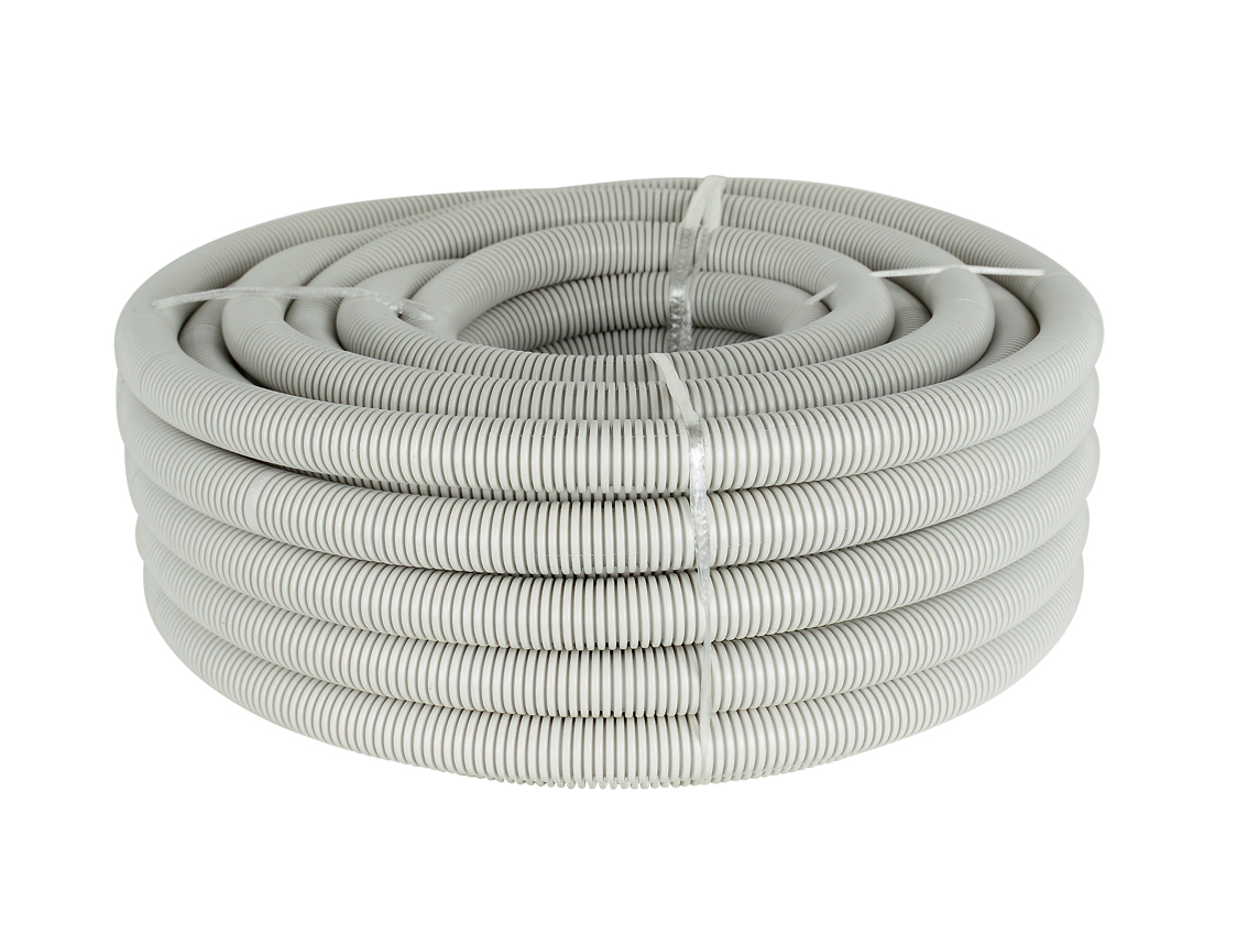 20mm Grey Corrugated Conduit (20m Roll)