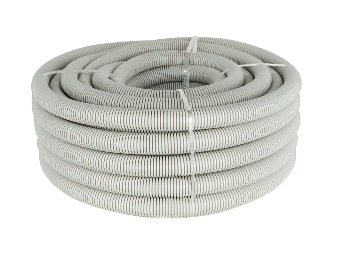 25mm Grey Corrugated Conduit (20m Roll)