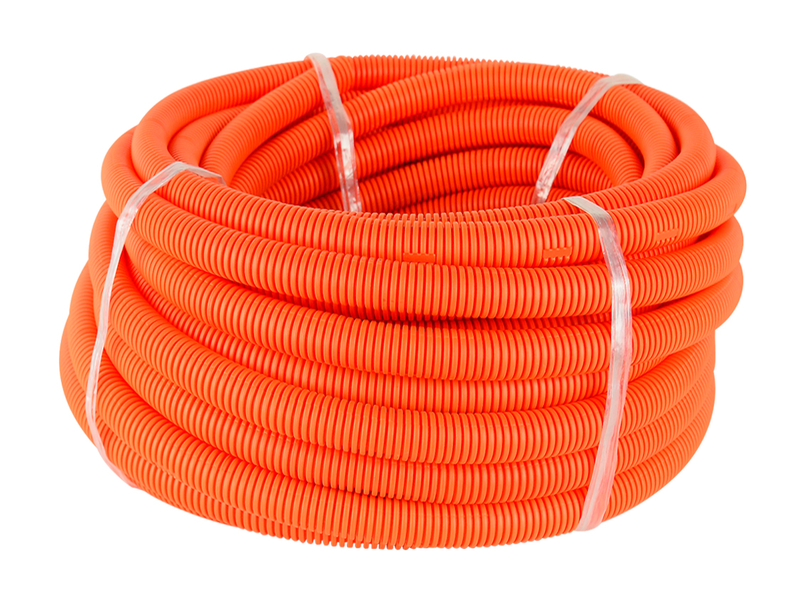 25mm HD Orange Corrugated Conduit (25M Roll)
