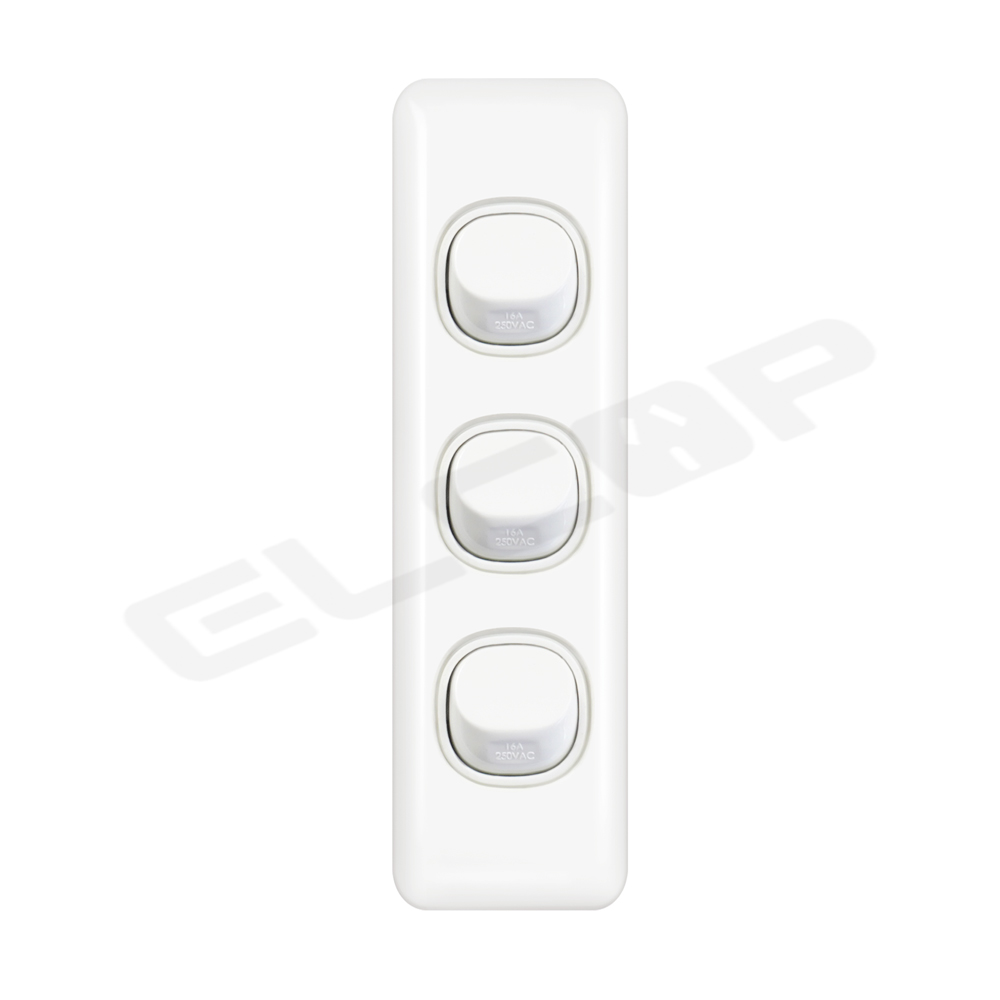 Triple Gang Architrave Switch   C2 Series