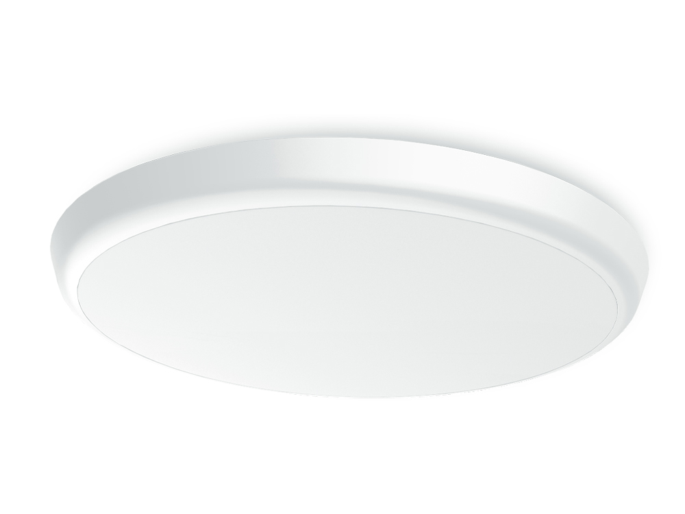 25W Round Slimline Tri Color Dimmable LED Ceiling Oyster Light | 300 mm