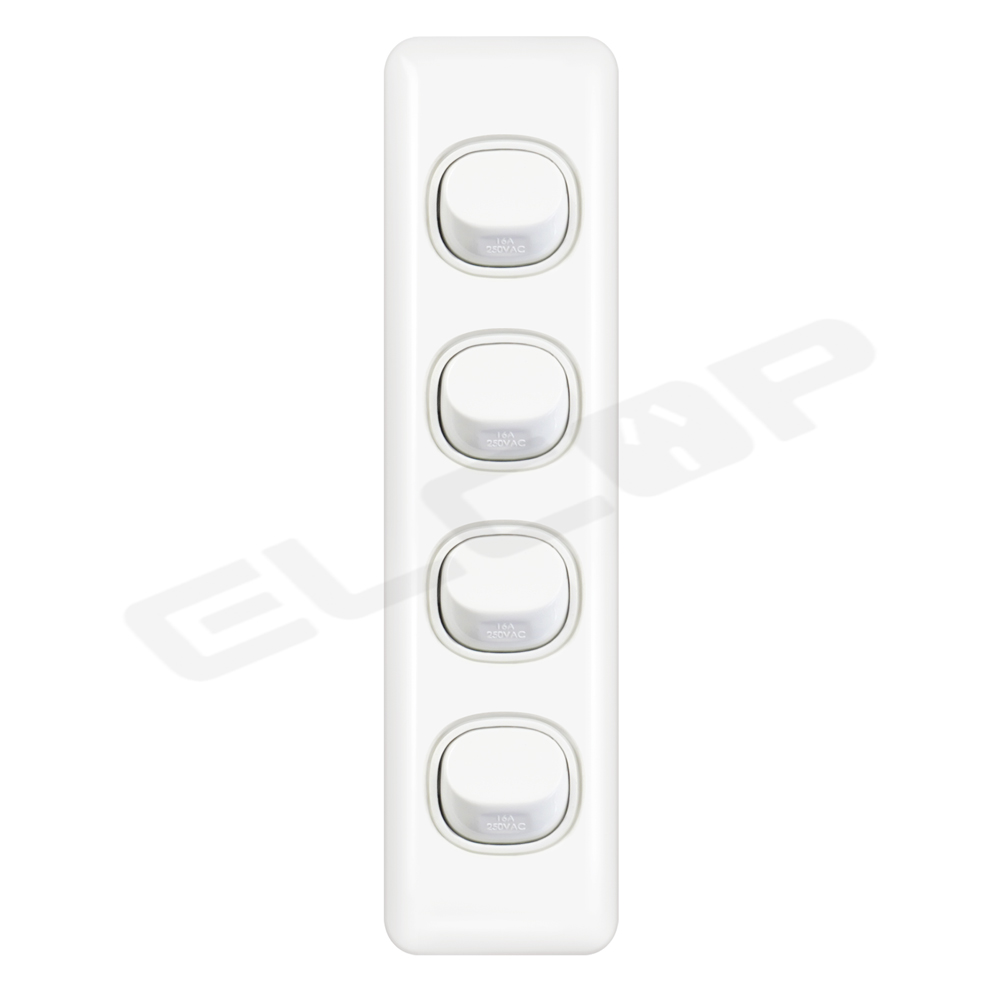 Four Gang Architrave Switch   C2 Series