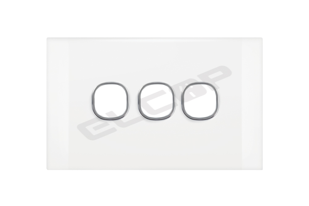 3 Gang Switch Plate | Pearl Series