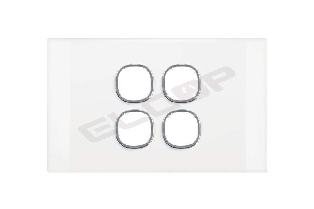 4 Gang Switch Plate | Pearl Series