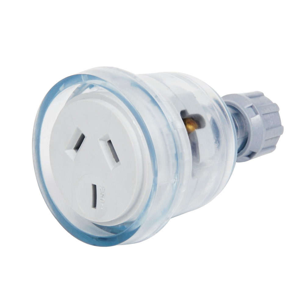 15A 3 Pin Clear Female Extension Socket Lead