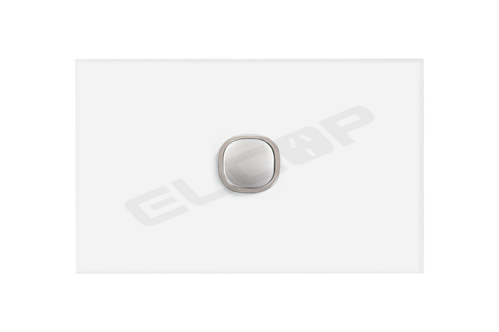 1 Gang Glass Push Button Blue LED Switch | Sapphire Series