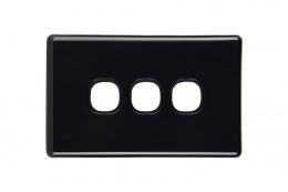 3 Gang Plate | Slimline Black