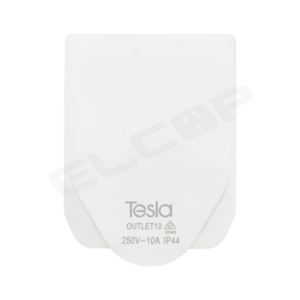 Tesla 10A Power Outlet IP44 | White