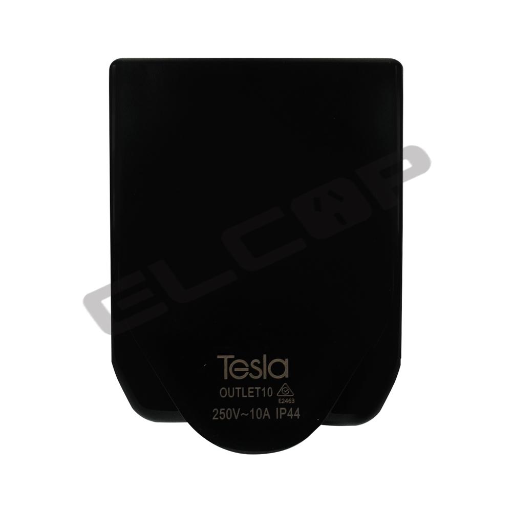 Tesla 10A Power Outlet IP44 | Black