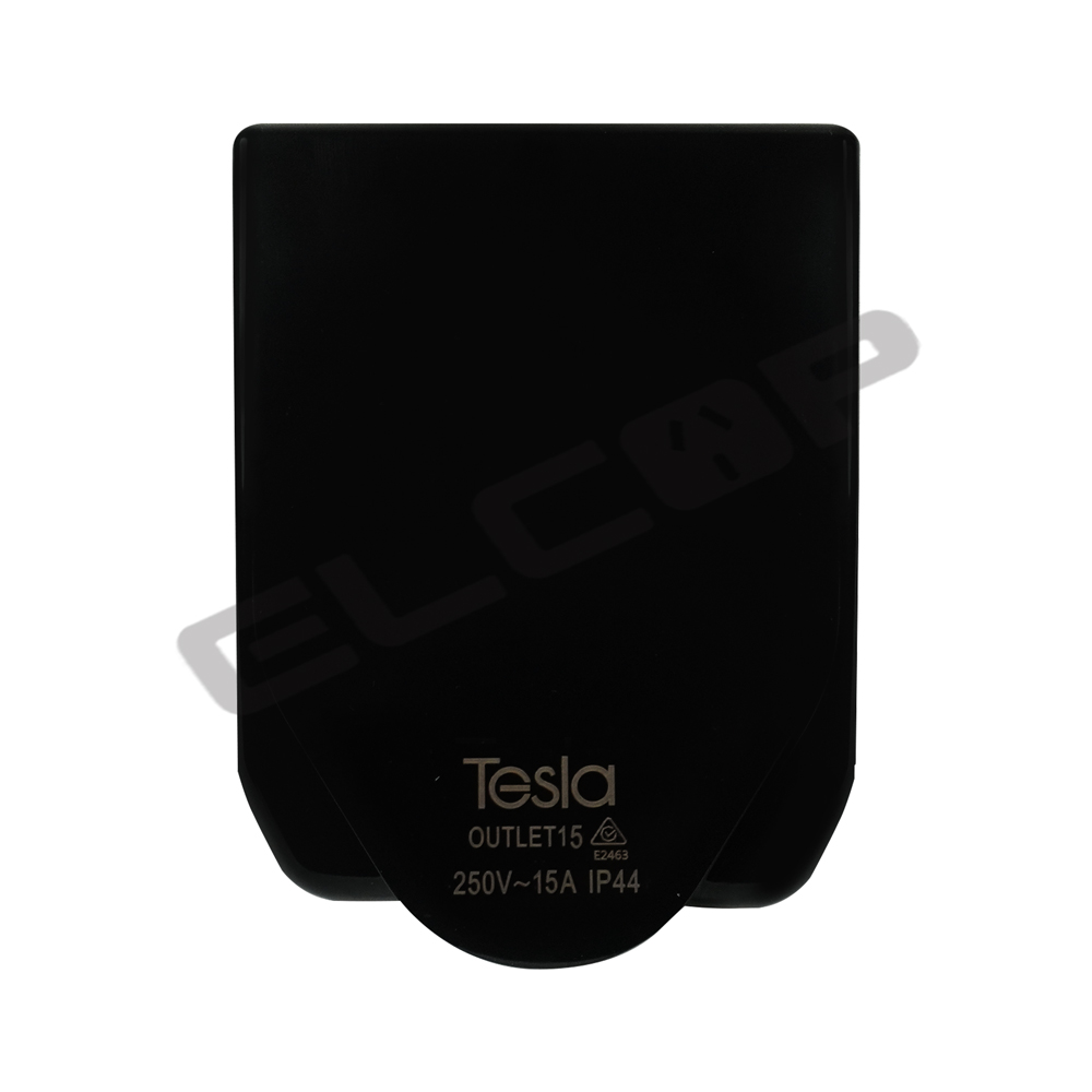 Tesla 15A Power Outlet IP44 | Black
