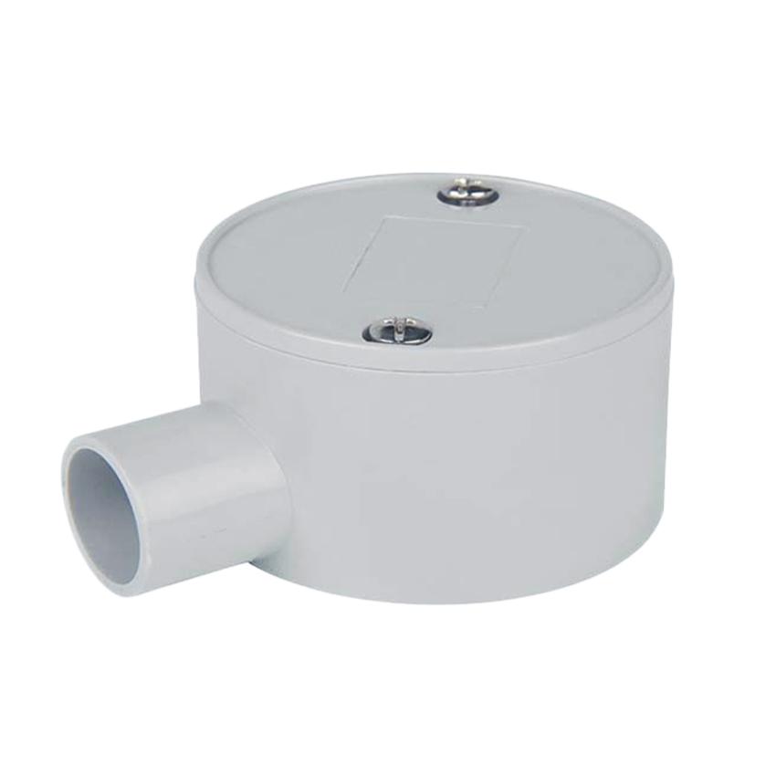 Circular Shallow J-Box 1 Way Entry 25mm