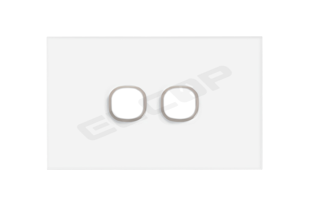 2 Gang Glass Switch Plate | Sapphire Series
