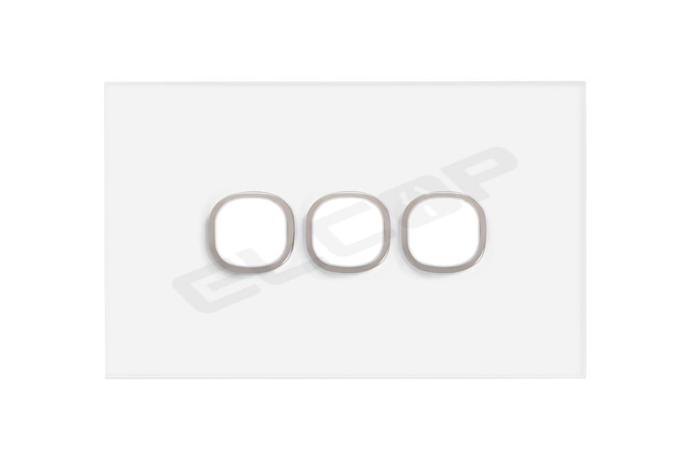 3 Gang Glass Switch Plate | Sapphire Series