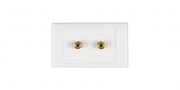 ARISTA 2X GOLD PLATED BANANA WALL PLATE