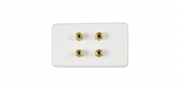 ARISTA 4X GOLD PLATED BANANA WALL PLATE