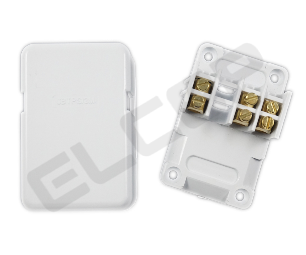 Miniature Junction Box With 3 Terminals and Connectors | Elcop