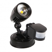13W LED Single Spotlight with Rotable Single-head and 180 Degree Sensor IP65 | Elcop