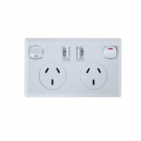 Double Powerpoint 10A + 2x 2AMP USB Sockets for Rapid Charging